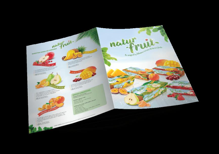Naturfruit design diptico Folder 2 866x612 - Nuevo proyecto de Packaging realizado por nuestro estudio de diseño gráfico y web