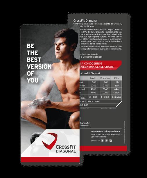 branding crossfit diagonal barcelona flyer1 506x612 - Proyecto global de comunicación para CrossFit Diagonal