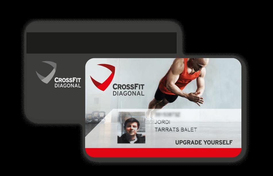 branding crossfit diagonal barcelona magnetic card1 950x612 - Proyecto global de comunicación para CrossFit Diagonal