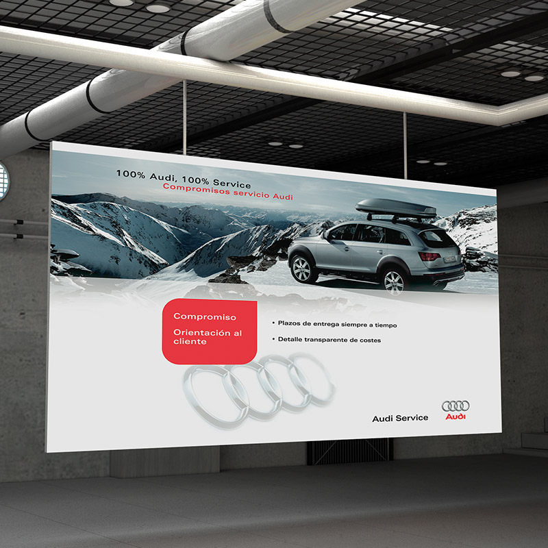 diseno de carteles para sector automobil - Carteles corporativos para Audi