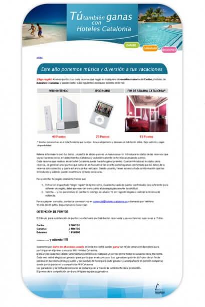 Site HC verano 409x612 - MediActiu crea la nueva campaña de verano de Hoteles Catalonia
