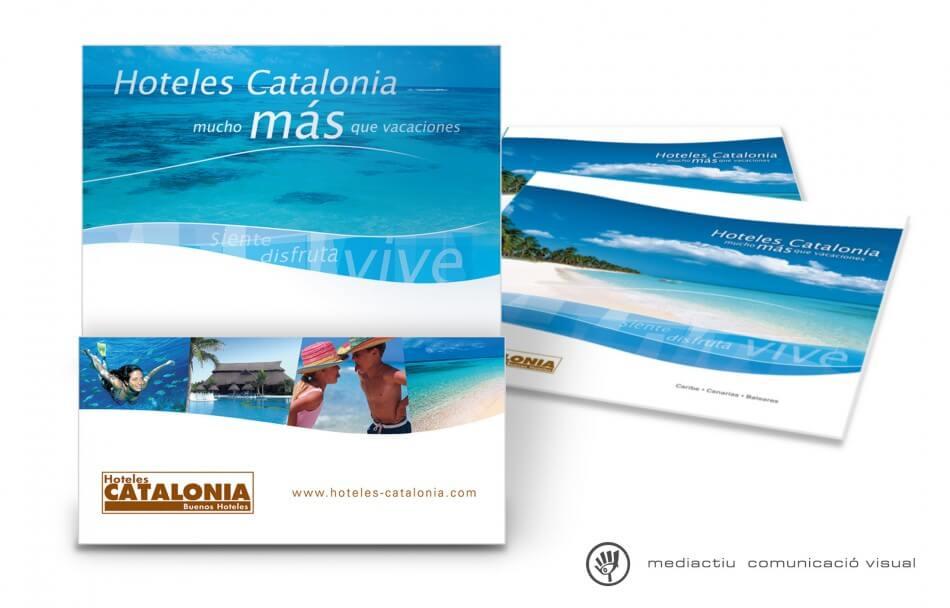 portafolletos HC 950x608 - MediActiu crea la nueva campaña de verano de Hoteles Catalonia
