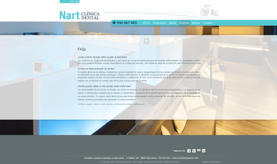 web clinica nart Scroll copia copia 950x563 - Mediactiu crea la nova web de la prestigiosa Clinica dental Nart de Barcelona