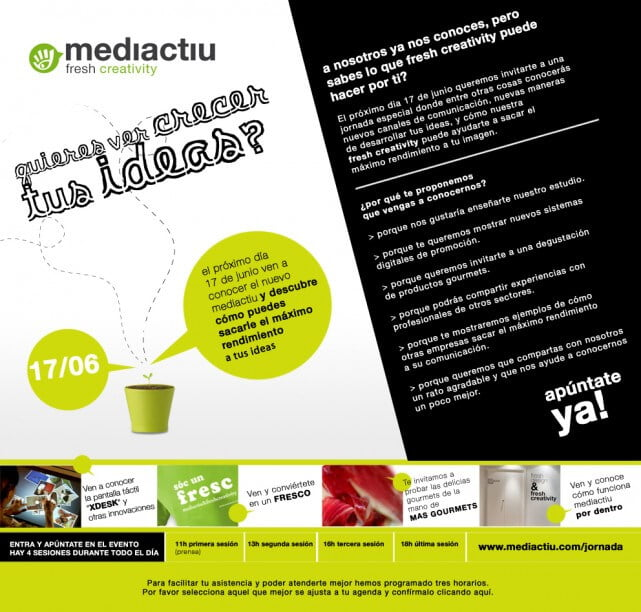 Invitacio clients mail evento 18 juny 641x612 - Fresh creativity, el nuevo concepto creativo