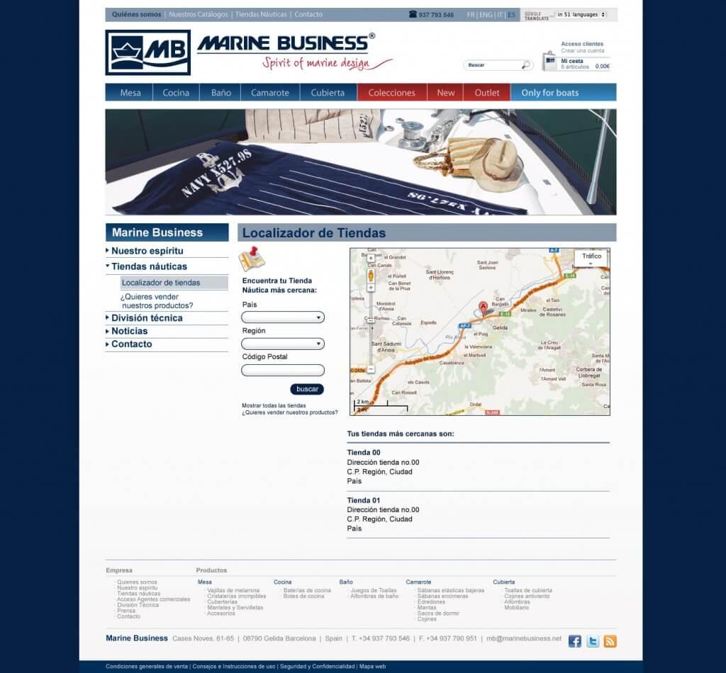 diseño web marine business 1024x950 - Mediactiu gana la cuenta de la firma de productos náuticos exclusivos Marine Business