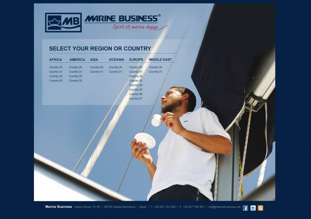 disseny web marine business 1024x720 - Mediactiu gana la cuenta de la firma de productos náuticos exclusivos Marine Business