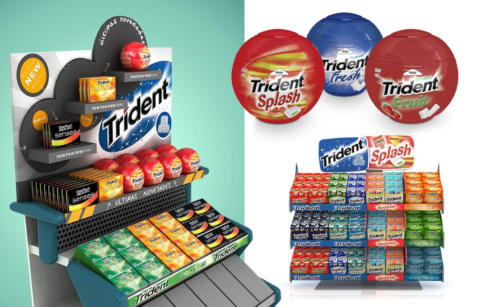 04 Diseno expositores PLV trident - Diseño gráfico y packaging de producto