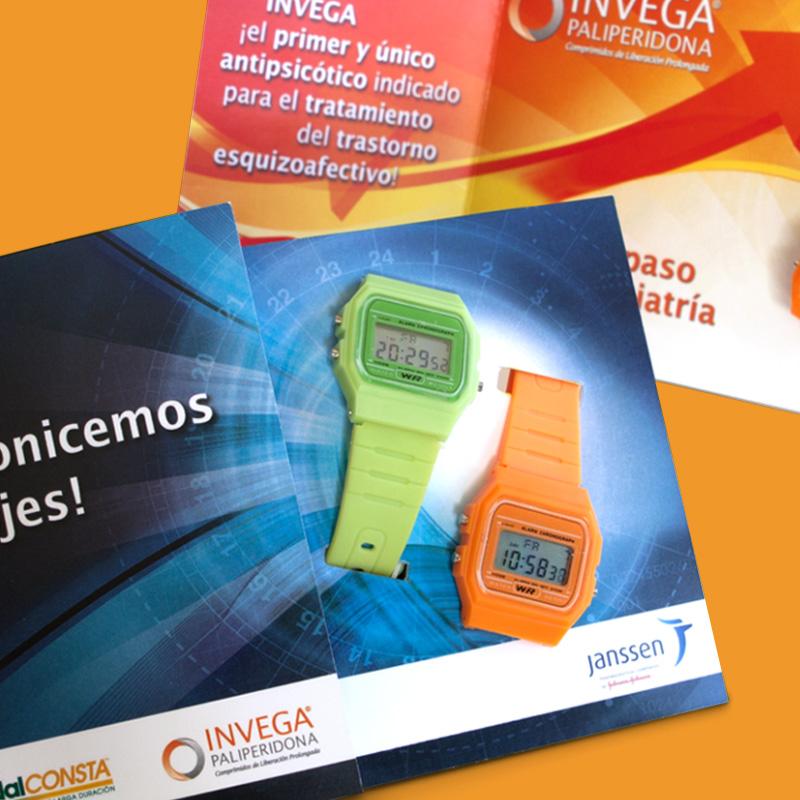 diseno de elemento promocional reloj - Campaña de formación interna
