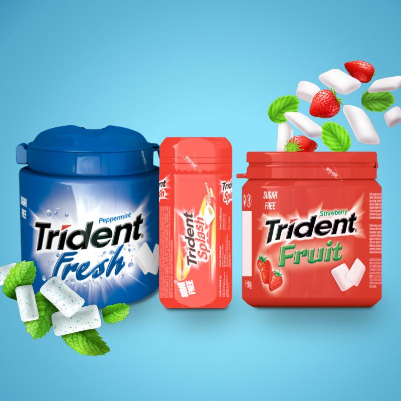 diseno de packs para trident - Diseño gráfico y packaging de producto
