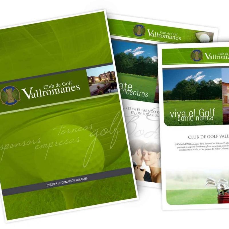 diseno de sales folder golf - Folletos corporativos para club de golf