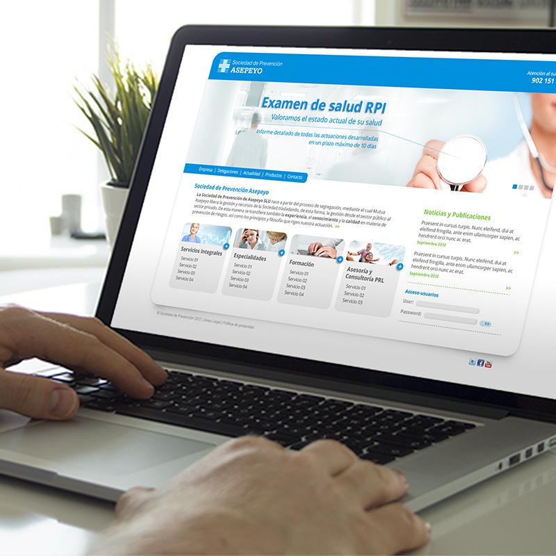 diseno de website salud - Desarrollo de web corporativa