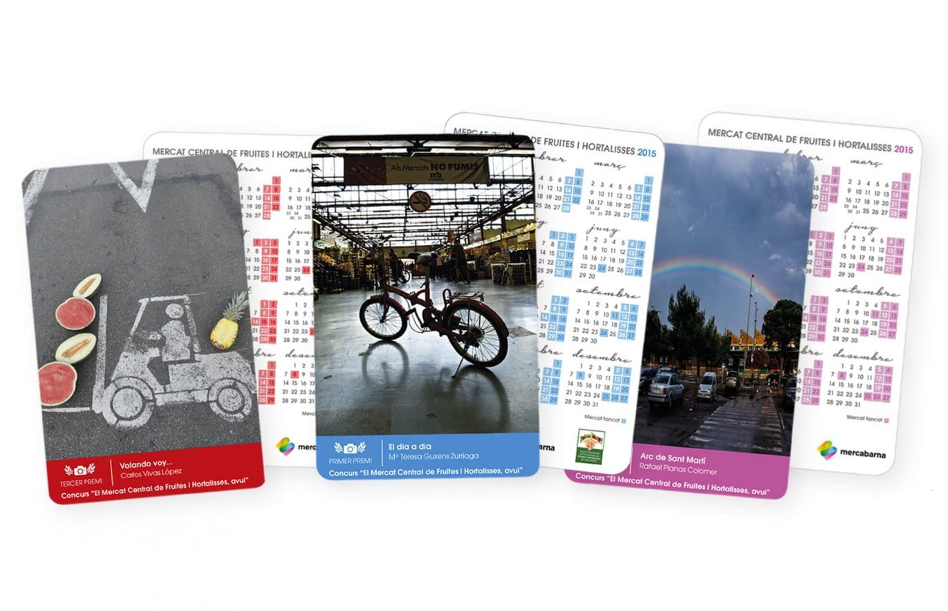 3 calendaris petits (dos costats)