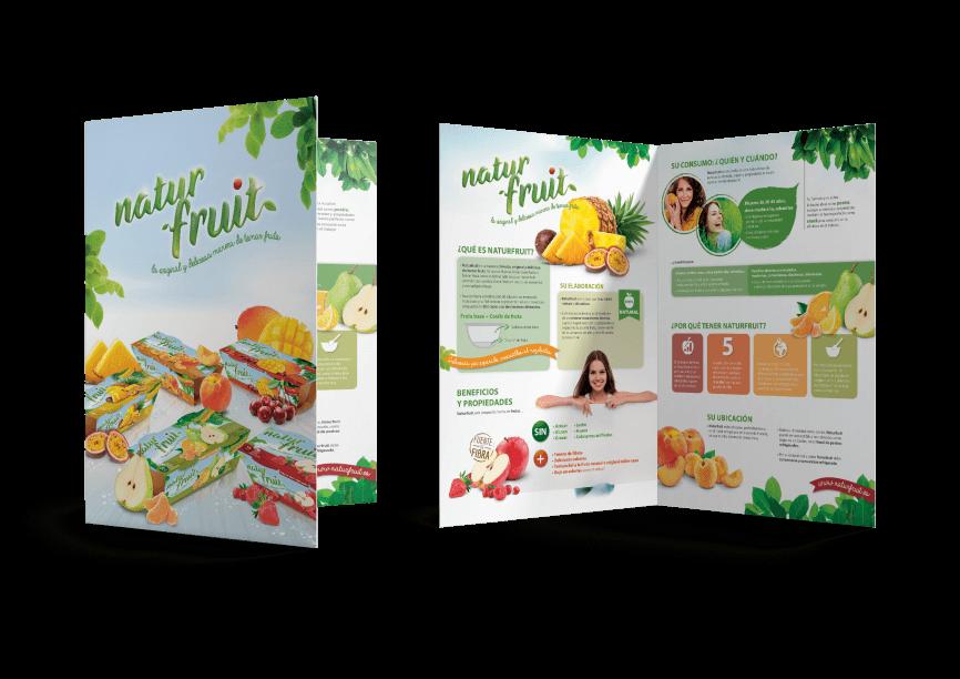 Naturfruit Folder  866x612 - Nuevo proyecto de Packaging realizado por nuestro estudio de diseño gráfico y web