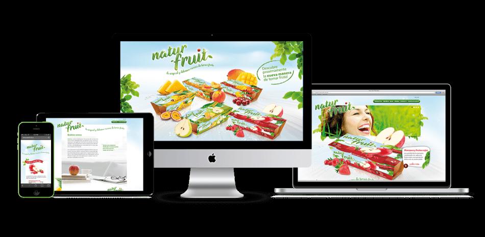 Naturfruit WEB responsive2 950x465 - Nuevo proyecto de Packaging realizado por nuestro estudio de diseño gráfico y web