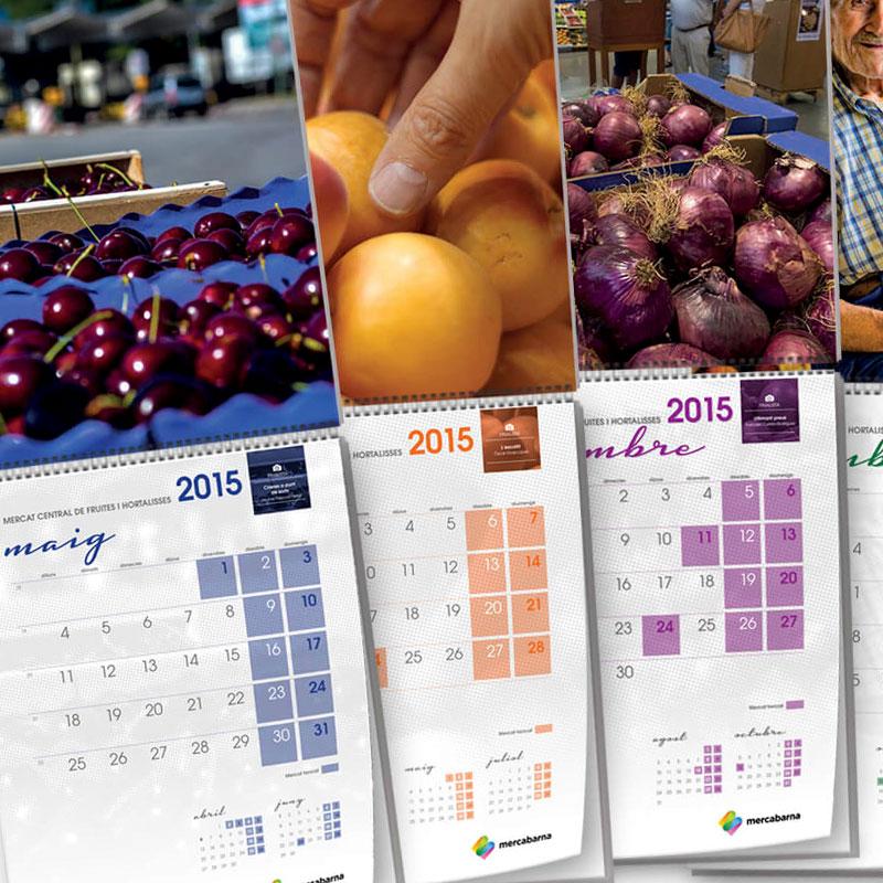 diseno de calendario alimentacion - Diseño de calendario corporativo