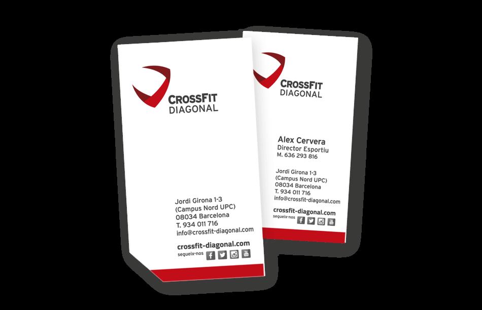 branding crossfit diagonal barcelona flyer visit card 950x612 - Proyecto global de comunicación para CrossFit Diagonal