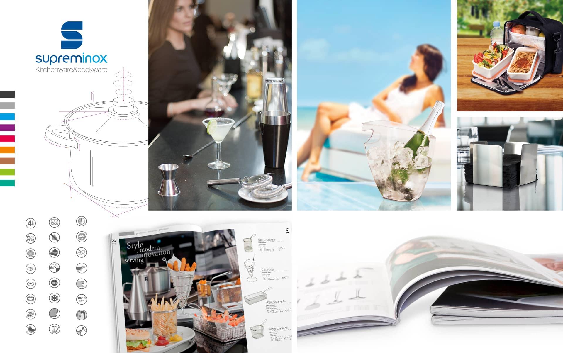 03 Catalogo de productos horeca supreminox - Diseño y maquetación de catalogo de productos