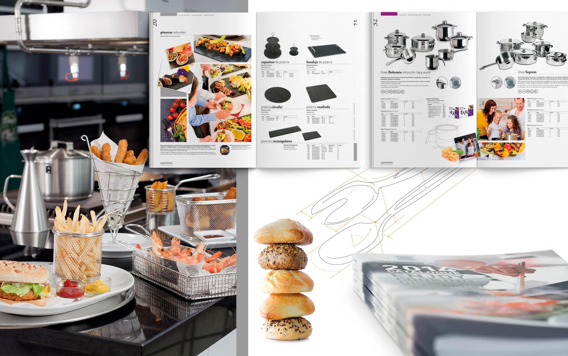 03 Catalogo para els ector horeca supreminox - Diseño y maquetación de catalogo de productos
