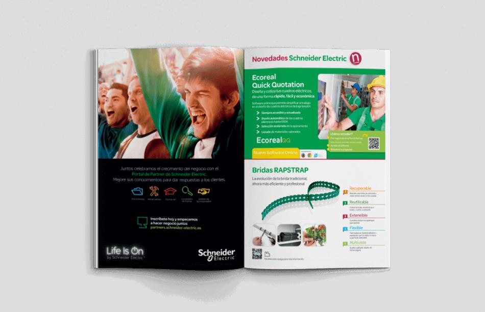 Schneider Electric editorial cover catalogo maquetacion disseny promocion barcelona mediactiu bodegon interior 950x612 - Restyling de tarifas de Schneider Electric