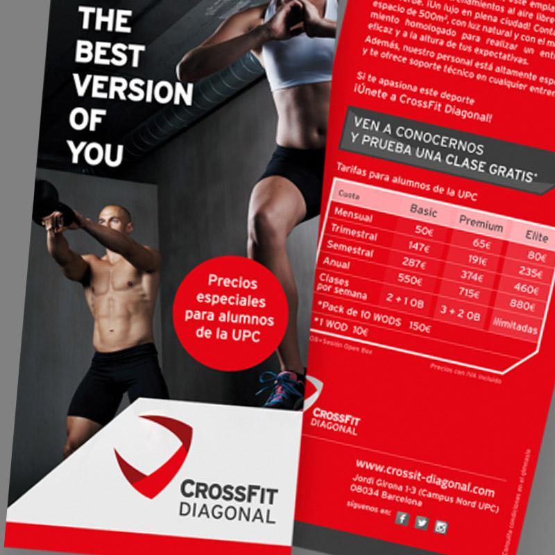 diseno de flyers para gimnasio - Diseño de branding y elementos gráficos promocionales