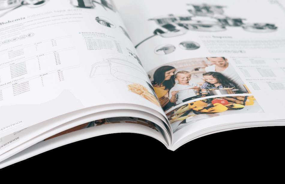 supreminox disseny editorial detalle interno2 950x612 - Disseny del Catàleg de Supreminox 2014