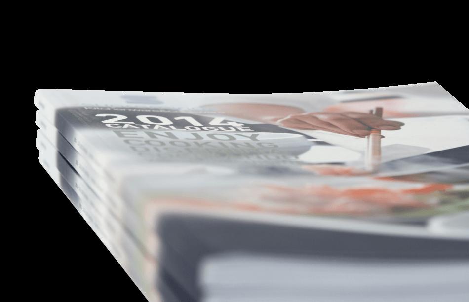 supreminox disseny editorial detalle portada1 950x612 - Diseño del Catálogo de Supreminox 2014
