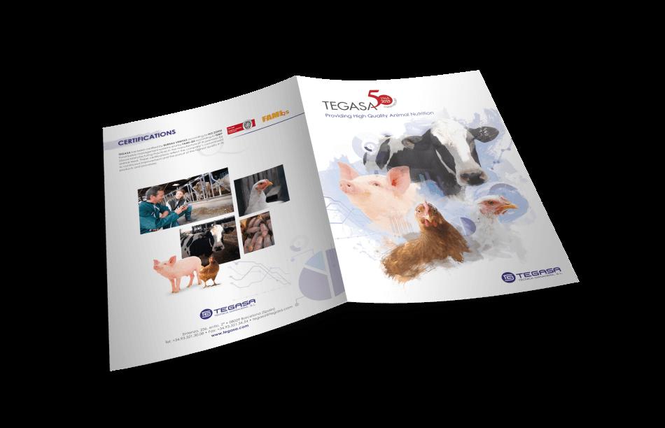 Tegasa editorial design animals cartel nutrition cover back diptic1 950x612 - Tegasa celebra su 50 aniversario rediseñando su gráfica