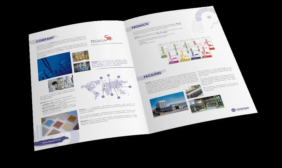 Tegasa editorial design animals cartel nutrition interior diptic1 950x567 - Tegasa celebra su 50 aniversario rediseñando su gráfica