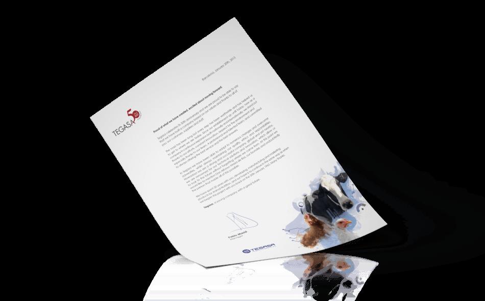 Tegasa editorial design animals letter restyling corporate1 950x591 - Tegasa celebra su 50 aniversario rediseñando su gráfica