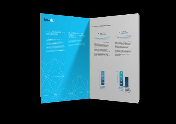 ubk howden correduria de seguros redesign restyling catalogue editorial folleto paginas interior - Comunicación e imagen para la fusión de Howden Iberia y UBK