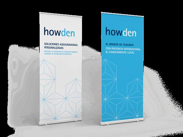 ubk howden rollup marketing - Comunicación e imagen para la fusión de Howden Iberia y UBK