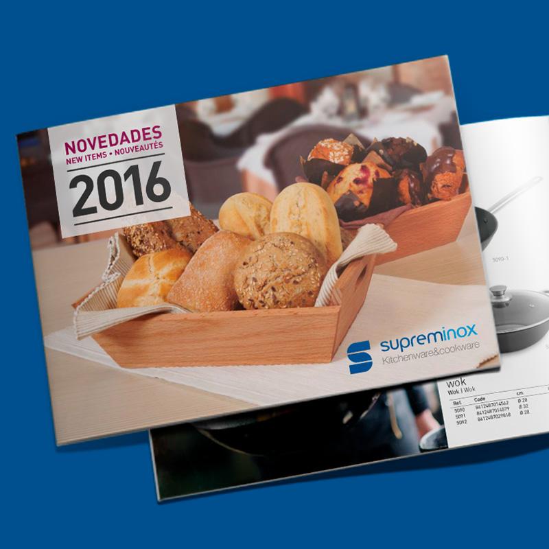 diseno folleto de novedades - Diseño de catálogo de productos horeca