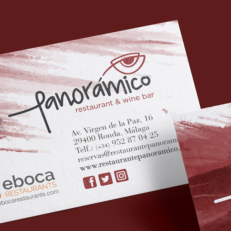 diseno de tarjeta para restaurante - Creación de branding para Panoramico