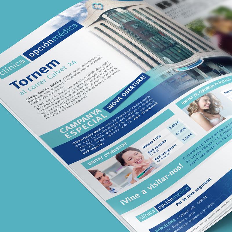 diseno de elementos de comunicacion - Campaña publicitaria para clínica estética