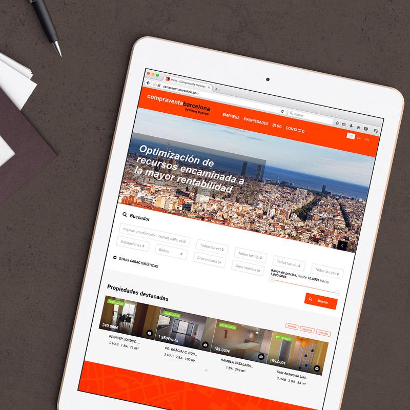 diseno de web fincas - Web para empresa inmobiliària