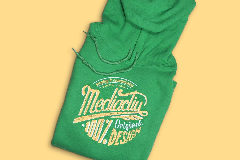 dessuadora estudi branding mediactiu barcelona - 100% Original Green Sweatshirt