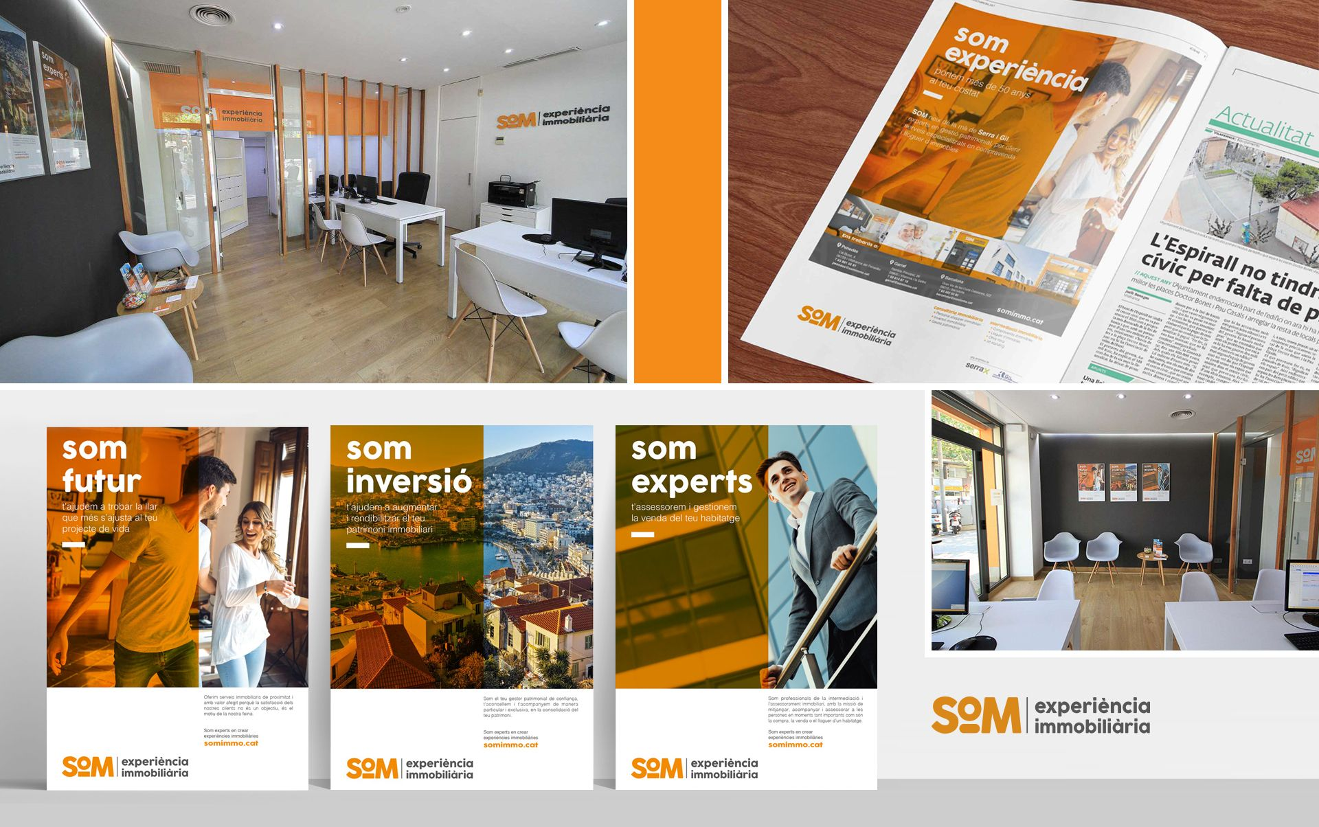 diseno grafico inmobiliiaria - Naming, branding, registro de marca, aplicaciones de marca...