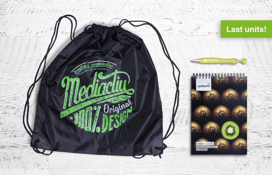 pack bolsa libreta boligrafo mediactiu - 100% Original Design Pack