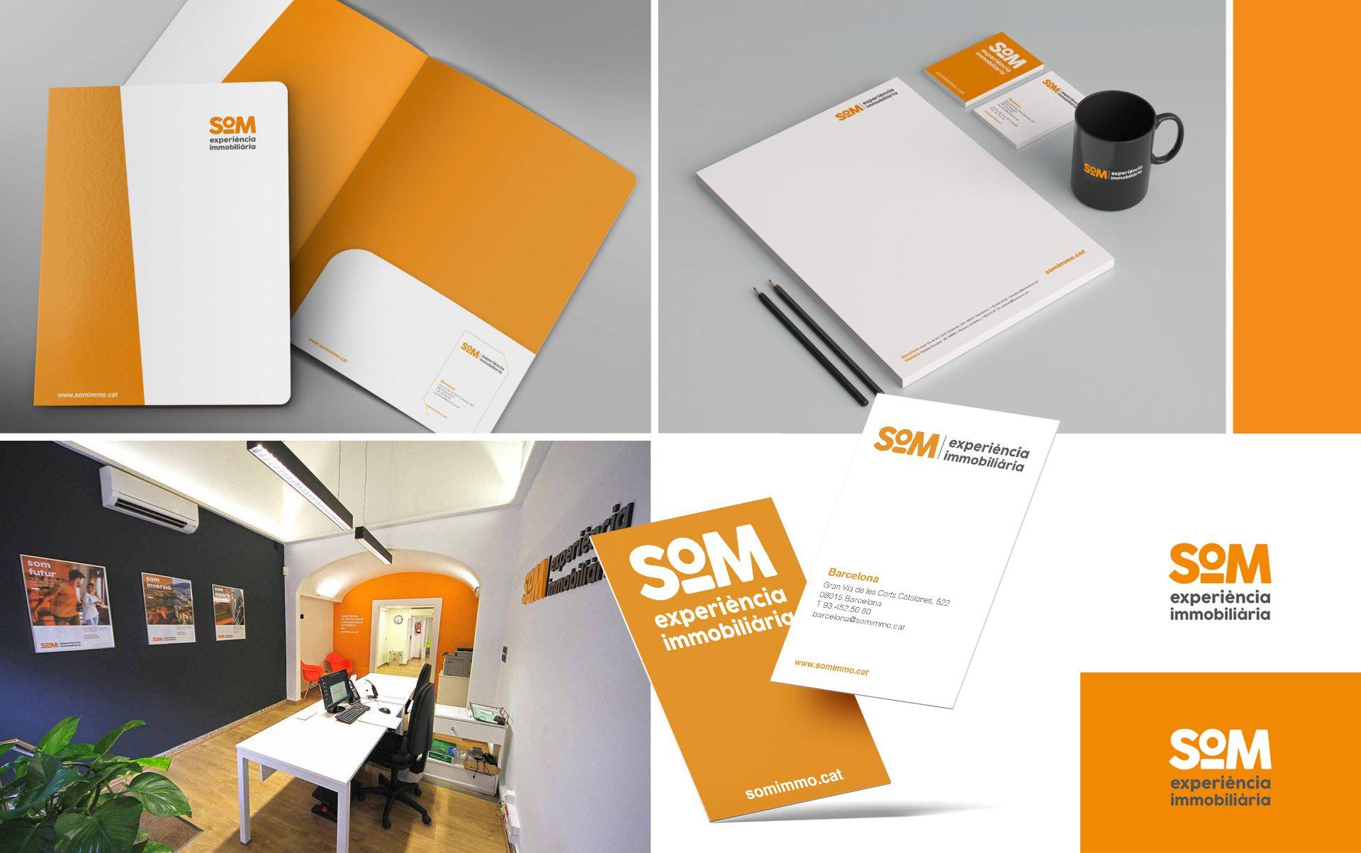 papeleria inmobiliaria barcelona - Naming, branding, registro de marca, aplicaciones de marca...