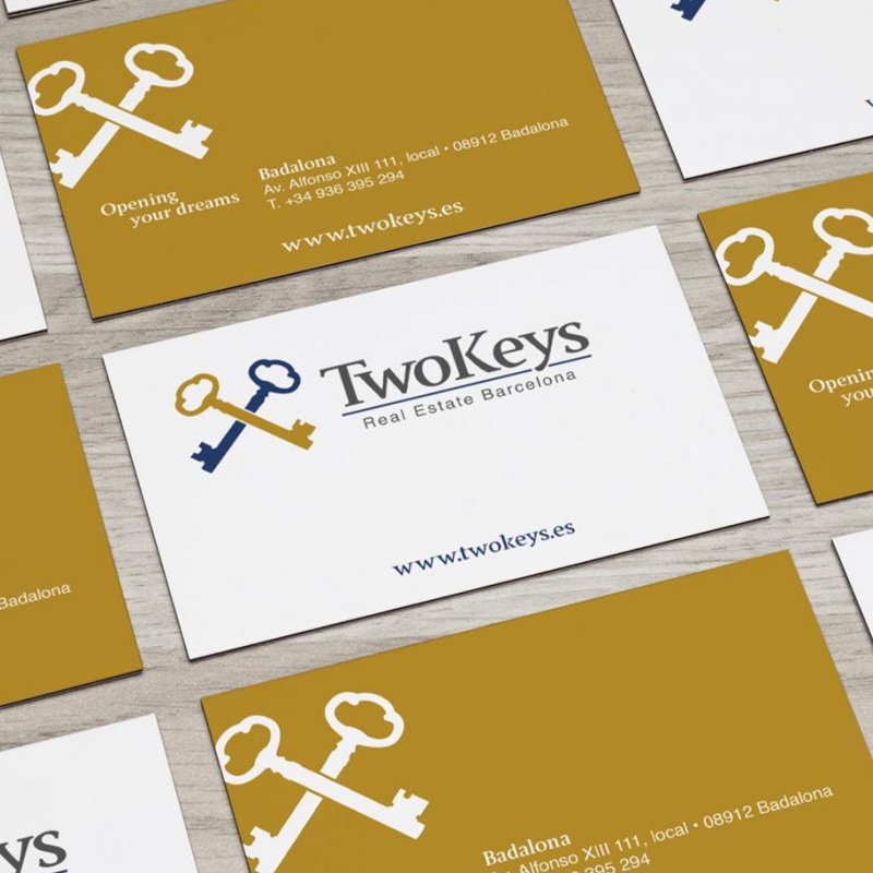 diseno de branding para inmobiliaria - TwoKeys, branding y naming