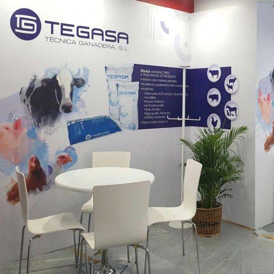 diseno de stand barcelona 550x550 - Creación de un Stand para Tegasa