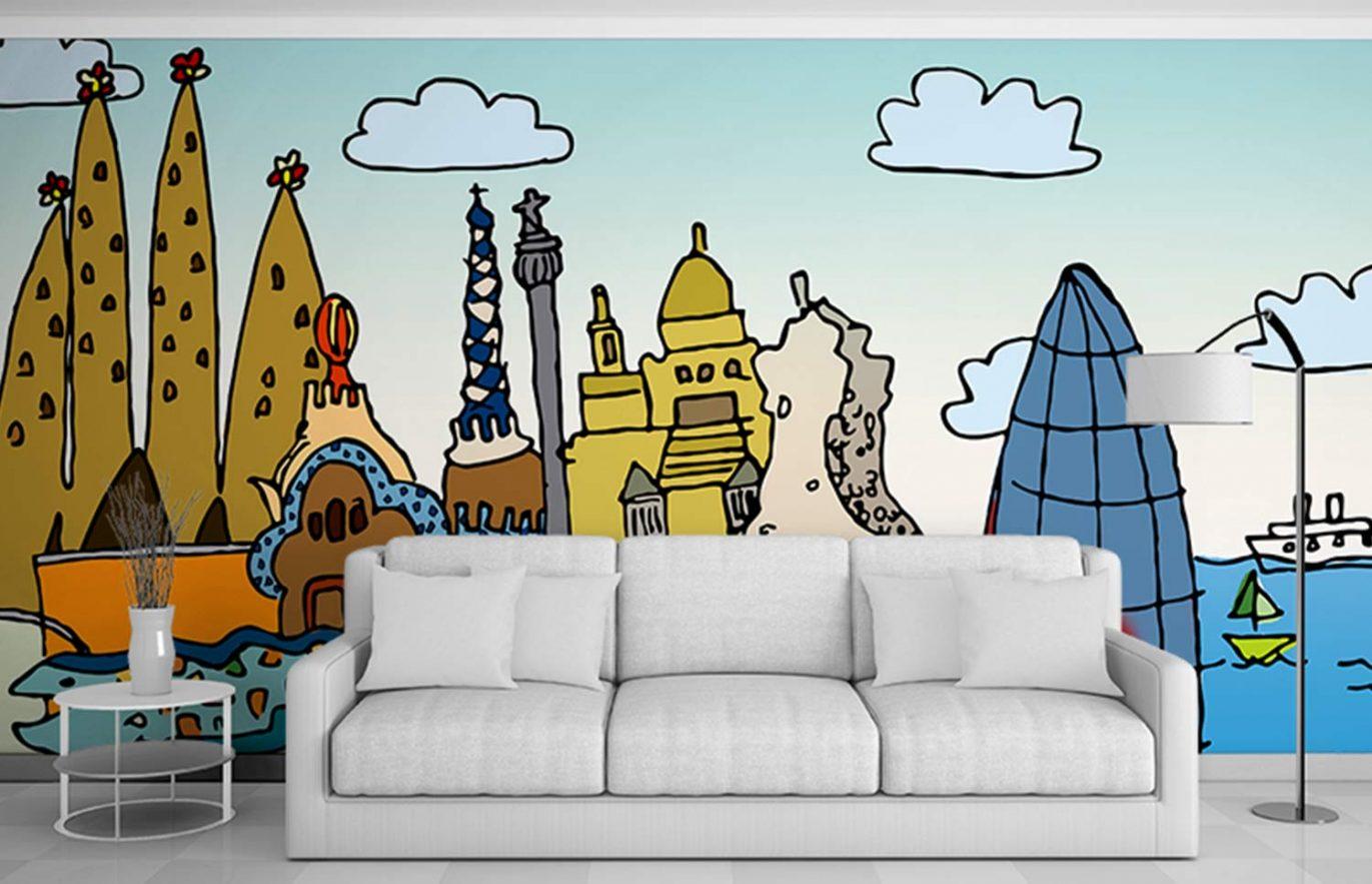 ilustracion-pared-hotel-diseno-barcelona