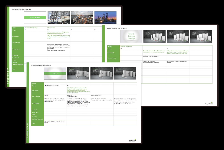 storyboard produccion video barcelona - Creación de una campaña promocional de principio a fin