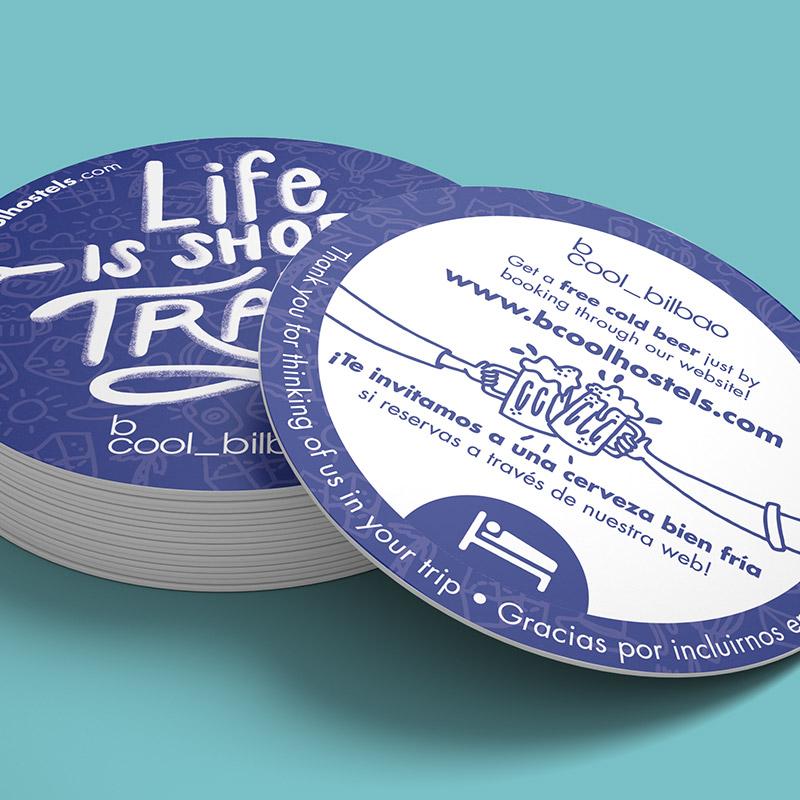 pegatina para hotel - Lettering y diseño de adhesivo promocional