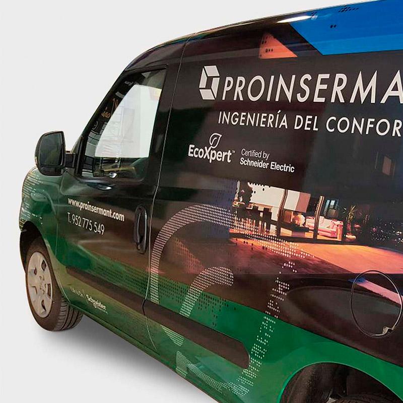 rotulacion furgoneta corporativa barcelona - Rotulación de vehículos corporativos