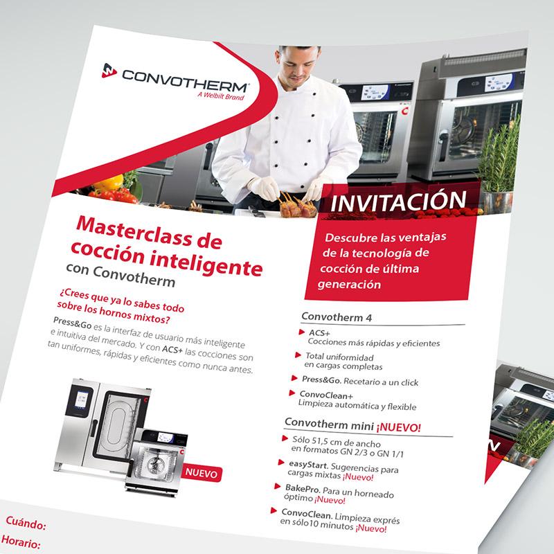 diseno elementos comunicacion - Material promocional para sector industrial de equipamiento para restauración
