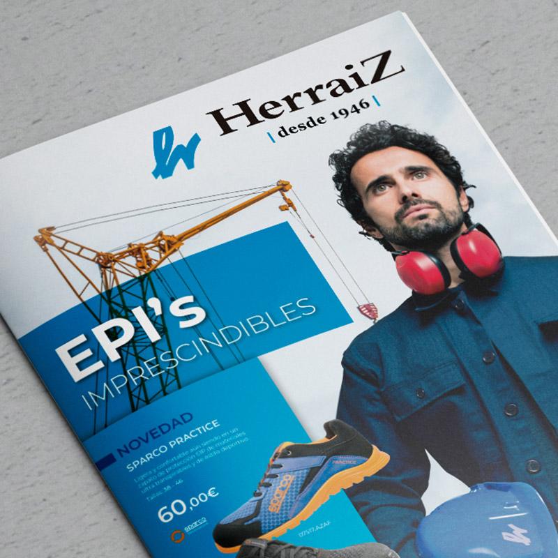 diseno de catalogo para material de proteccion - Catálogo de productos EPI