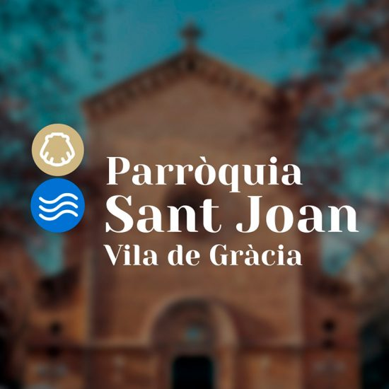 diseno de logotipo parroquia barcelona 550x550 - Branding design for the Sant Joan de Gràcia Church