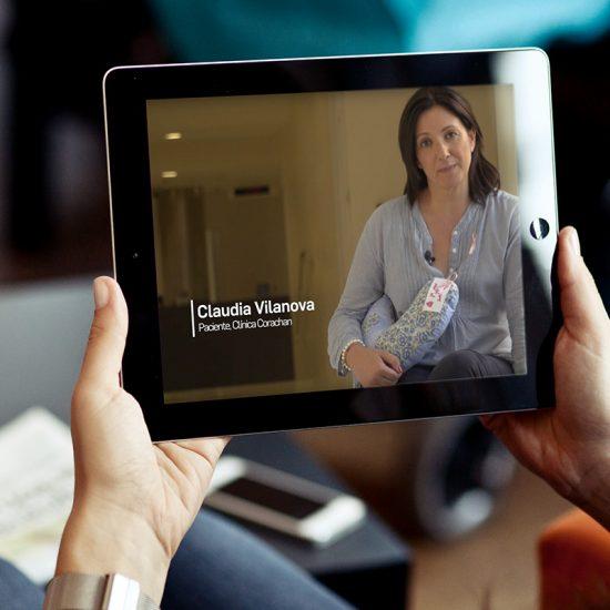 video testimonial barcelona 550x550 - Vídeo Testimonial Fundación Corachan