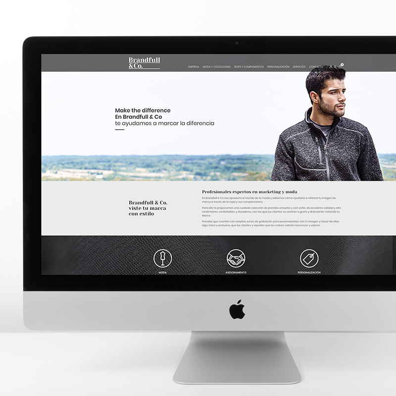 diseno web empresa textil - Diseño de website para empresa textil